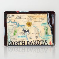 fargo iPad Cases featuring NORTH DAKOTA by Christiane Engel