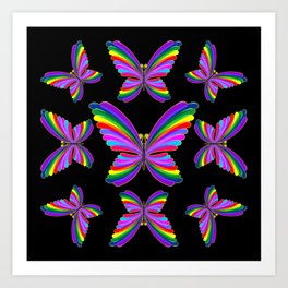 Butterfly Psychedelic Rainbow Art Print
