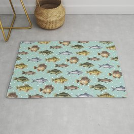 Watercolor Fish Rug