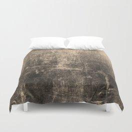 Gold Crinkled Paper Duvet Cover