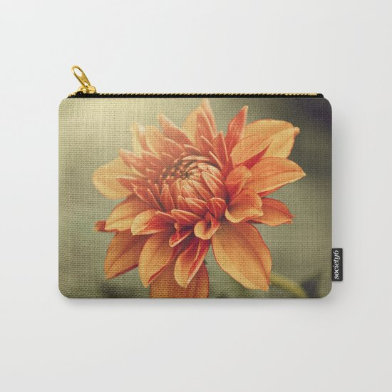 Orange Dahlia #2 * Garden Flowers Floral Blossom Nature Carry-All Pouch