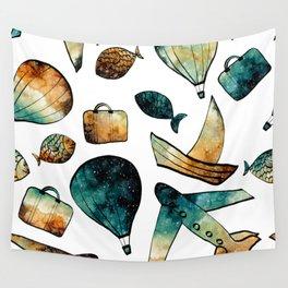 Galaxy Balloon Pattern 03 Wall Tapestry