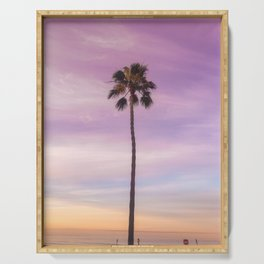 Sunset Palm in Southern California Serving Tray