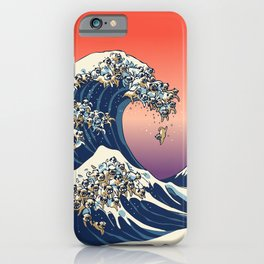 The Great Wave of Pug iPhone Case