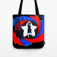 peggy carter Tote Bags featuring Carter. Agent Carter. by Lydia Joy Palmer