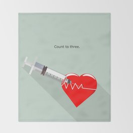 Shot to the heart - Pulp fiction Overdose Needle Scene needle for injection  Throw Blanket
