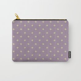 Mauve Vintage Lily-of-the-Valley Mini-Print Pattern Carry-All Pouch