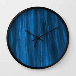 Dark Blue Falling Wall Clock