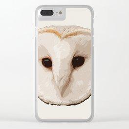 barn owl Head Clear iPhone Case