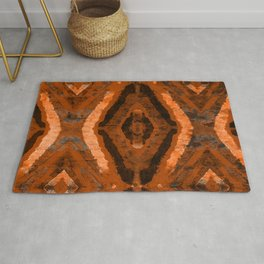 Abstract geometric pattern. Rhombus texture in brown colore Rug