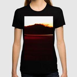 Night Lights Car and Fire Mountain T-shirt