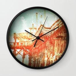 Cherry Grove Beach, SC Pier -- Lomo SQ Antique Wall Clock