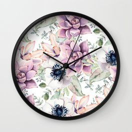 Oh my Succulents Wall Clock