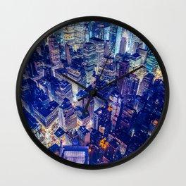 Manhattan From Above Wall Clock