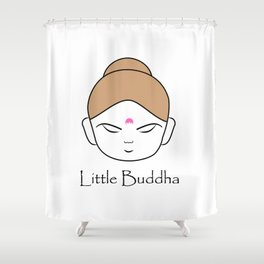 Cute little Buddha Shower Curtain