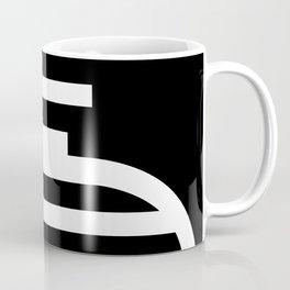 Black and white pattern geometric minimal Coffee Mug