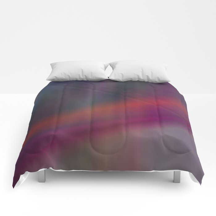 Dark abstract colors Comforters