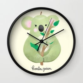 Koala Pear Wall Clock