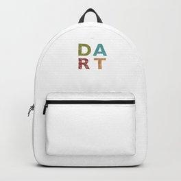 Distressed Dart Typography Bar Pub Tournament Backpack