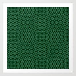 Emerald Green Diamond Pattern Art Print
