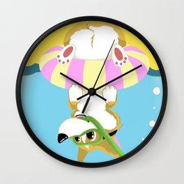 Summer Corgi Wall Clock