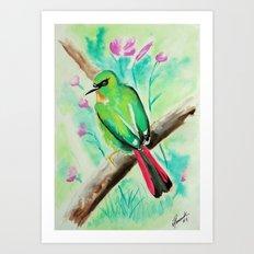 Little Birds 11/30 by Veron Ramsawak Art Print