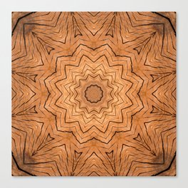 Wooden star ring kaleidoscope Canvas Print