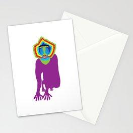 Animal Mardi Gras: Monkey Stationery Cards