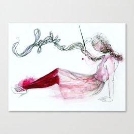 ink hair Canvas Print