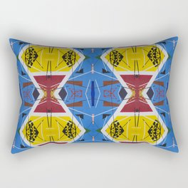 Retro 1980s Style Repeating Primary Color Pattern Rectangular Pillow