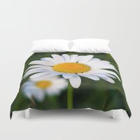 daisies Duvet Covers featuring Daisies by Rose Etiennette