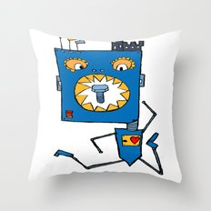 Little monsters from my head Throw Pillow