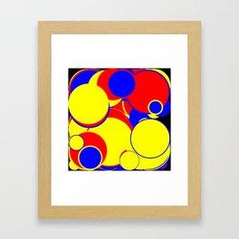Abstract Large Circles Framed Art Print
