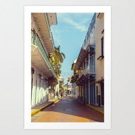 Streets of Panama City Art Print