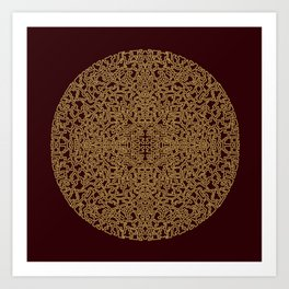 Puzzled (Moroccan Mandala) Art Print