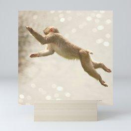 Monkey Jump Mini Art Print
