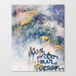 Dive into your ocean Canvas Print