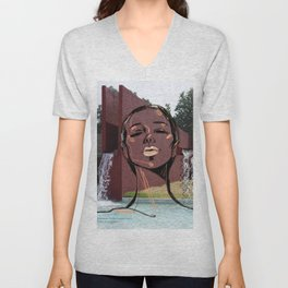 Pigtails in Mexico Unisex V-Neck
