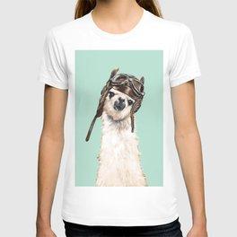 Cool Pilot Llama T-shirt