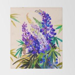 Lupine flowers Throw Blanket