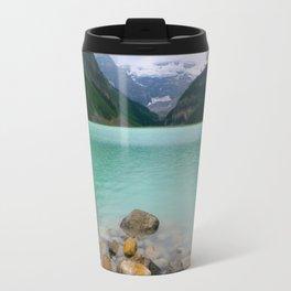 Rainy Day on Lake Louise Travel Mug