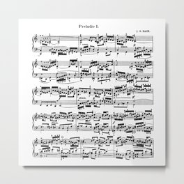 Sheet Music by Bach Metal Print