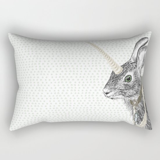 uni-hare All animals are magical Rectangular Pillow