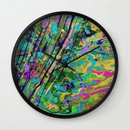 Mardi Gras Marble Wall Clock
