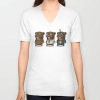 hero V-neck T-shirts featuring Hero by Torakiki