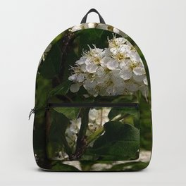 White Cluster Blossoms Backpack