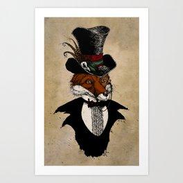 Dandy Fox Art Print