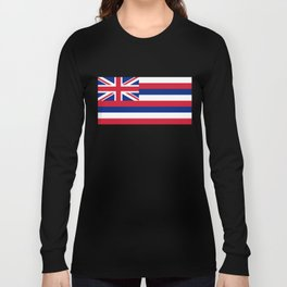 Flag of Hawaii, High Quality image Long Sleeve T-shirt