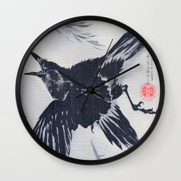 Crow And Willow Tree - Digital Remastered Edition Wall Clock