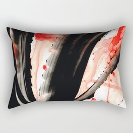 Black White Red Art - Tango 2 - Sharon Cummings Rectangular Pillow